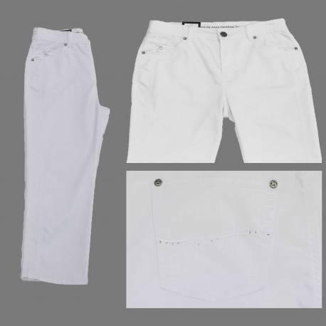 Pantacourt Dora confort fit blanc
