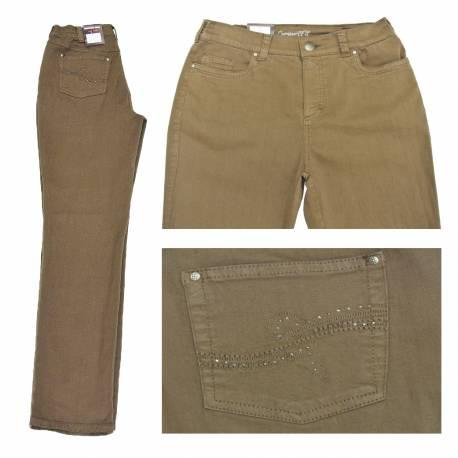 Jeans Dora confort fit Marron