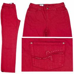 Jeans Dora confort fit Rouge