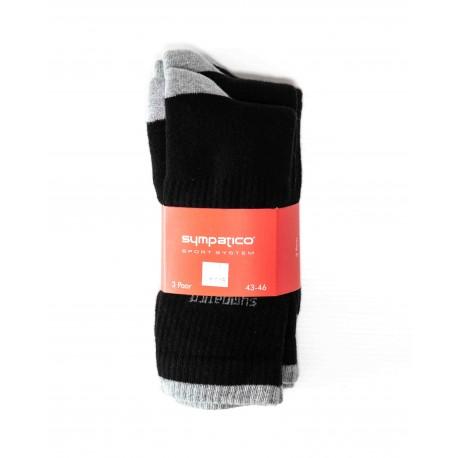 Pack 3 Chaussettes de Sport Noir