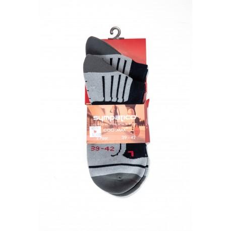 Pack 2 Chaussettes Courtes de Sport Noir