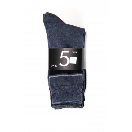 Pack 5 Chaussettes Bleu marine / Gris