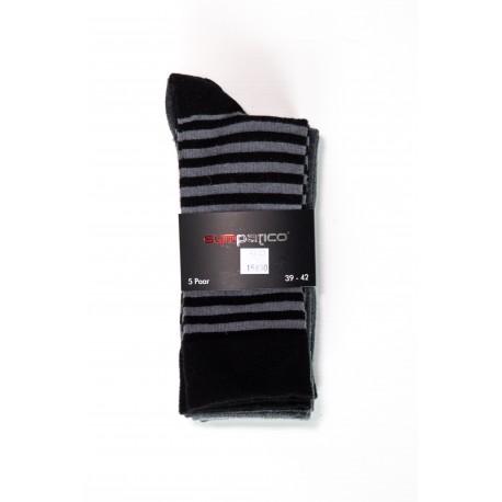 Pack 5 Chaussettes Noir / Gris