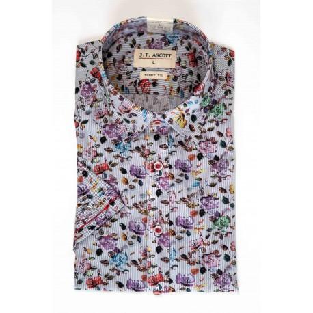 Chemise manches courtes à motif à fleurs