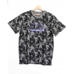 Tee-shirt Bleu Seven motif à fleurs Gris