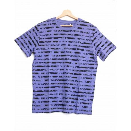 Tee-shirt Bleu Seven rayé Violet