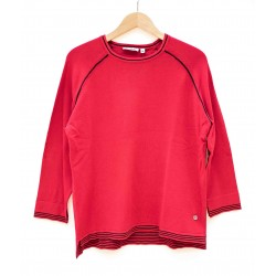 Pull Hajo Manches 3/4 Rouge