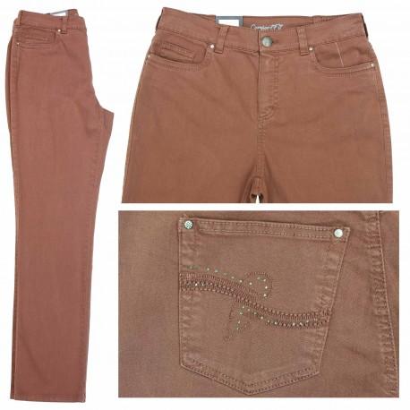 Jeans Dora confort fit Brique