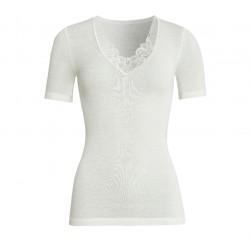 Tee-shirt dentelle Con-ta Laine/Modal Ecru