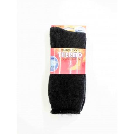 Chaussettes Sympatico Thermo Noir