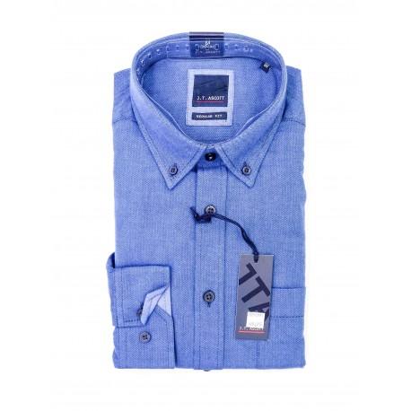Chemise J.T Ascott Flanelle Bleu Jeans