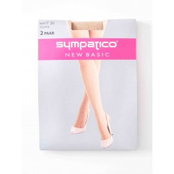 Collants Sympatico Voile 20 Deniers Pack X2 Powder