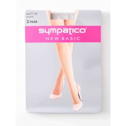 Collants Sympatico Voile 20 Deniers Pack X2 Gris