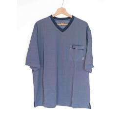 Pyjama short Hajo Uni Bleu Ciel Col V