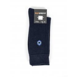 Pack 2 Chaussettes Sympatico Motif Bleu Marine