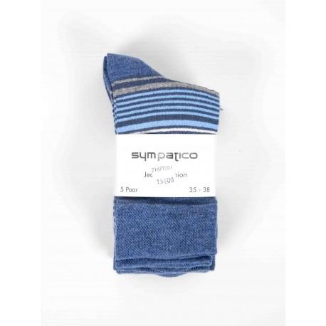 Pack 5 Sympatico Socks Women Jeans