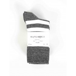 Pack 5 Sympatico Woman Socks Gray