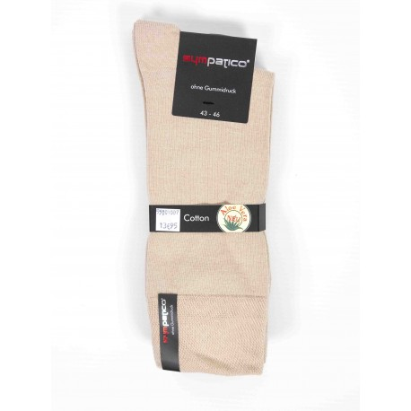Pack 2 Sympatico Cotton Socks Beige