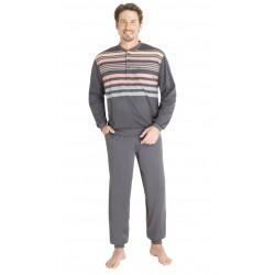 Pyjama Hajo Fantaisie Rayé Anthracite