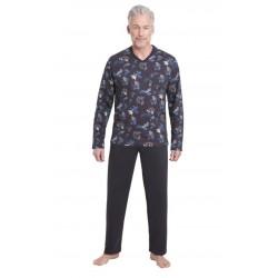 Pyjama Hajo Fantaisie Bleu Marine