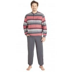 Pyjama Hajo Rayé Rouge