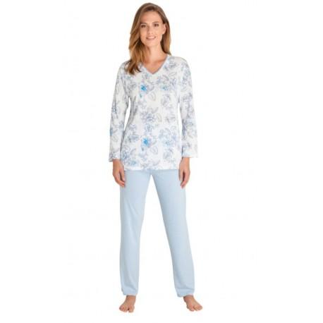 Pyjama Hajo Femme Fleuri