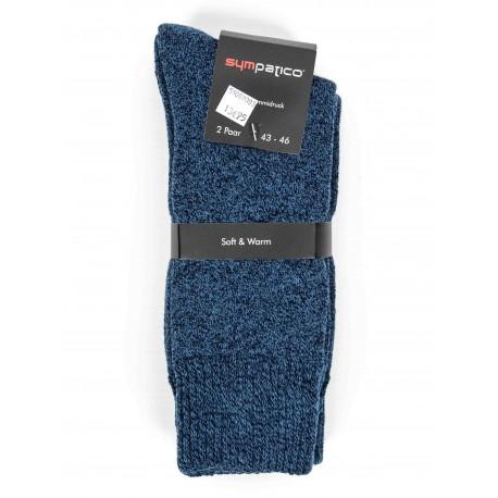 Pack 2 Chaussettes Sympatico Bouclettes Bleu Jeans