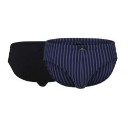 Slip Pack X2 Gotzburg Rayé Fantaisie Bleu/Uni Noir