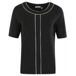 Tee-shirt Hajo Fantaisie Femme Noir/Blanc