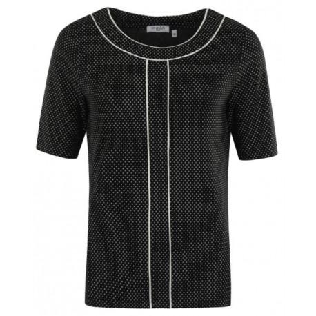 Hajo Fantasy Woman T-Shirt Schwarz / Weiß