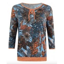 Frauen Hajo Fancy 3/4 Ärmel T-Shirt