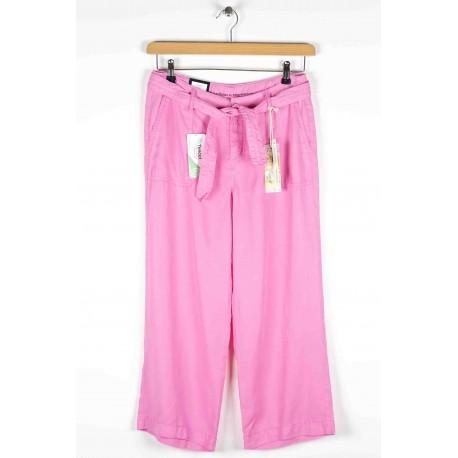 Cropped pants Anna Montana Angelika Puebo Lyocell / Linen Beige