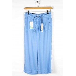 Cropped pants Anna Montana Angelika Nevada Tencel Sky Blue