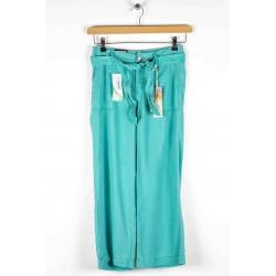 Cropped pants Anna Montana Angelika Nevada Tencel Green