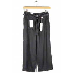 Cropped pants Anna Montana Angelika Nevada Tencel Black