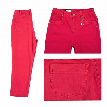 Capri pants Anna Montana Dora comfort fit Red