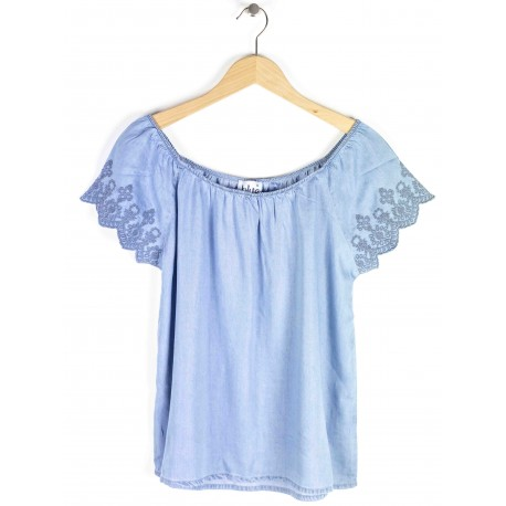 Chemiser Blue Seven Femme Manches courtes - Effet Jeans