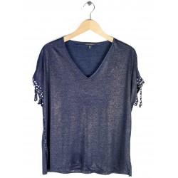 Tee-shirt Azay Femme Uni Bleu Marine