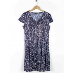 Azay Dress Women Navy Blue Dots