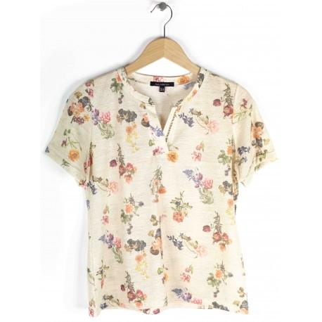 Tee-shirt Azay Femme Fantaisie Fleuri