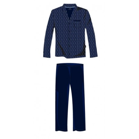 GÖTZBURG Pyjamas mit Knöpfen Marine