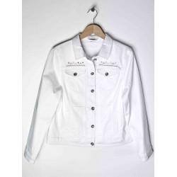 Damen Azay Jeans Buttoned Jacket Weiß