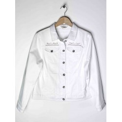 Women's Azay Jeans Buttoned Jacket White