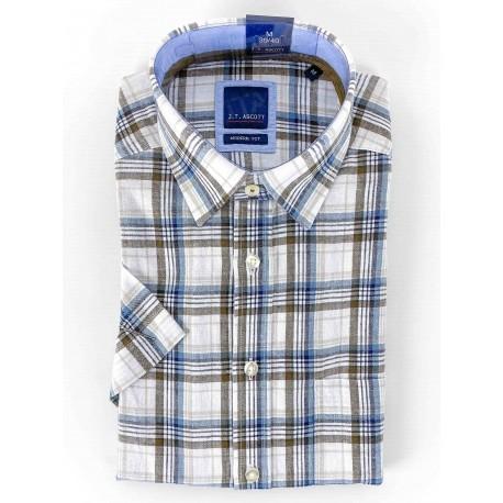 Chemise manches courtes J.T Ascott carreaux madras