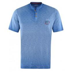 Tee Shirt Hajo Vintage Look Bleu