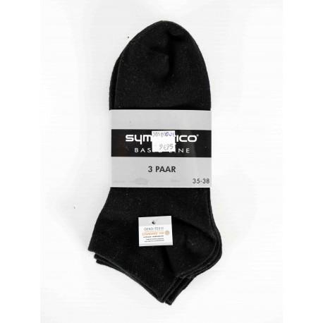 Pack 3 Sympatico Socquettes Noir