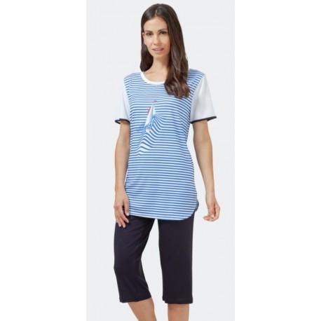 Pyjama Hajo Corsaire Femme Fantaisie
