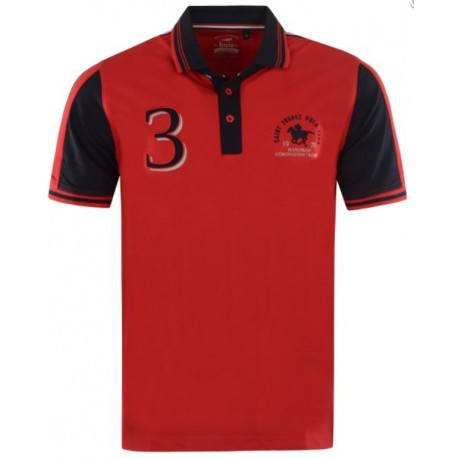 Polo Hajo Stay fresh Rugby Rouge