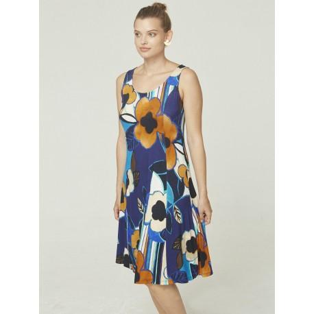 Azay Dress Women Navy Blue Dots