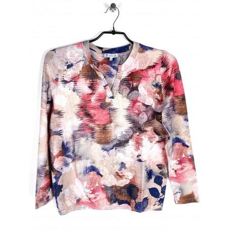 "Tee-shirt Hajo ""Joy Of Life"" Fantaisie Femme Rose"